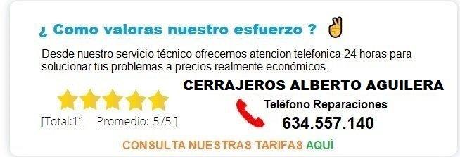 cerrajero ALBERTO AGUILERA precio